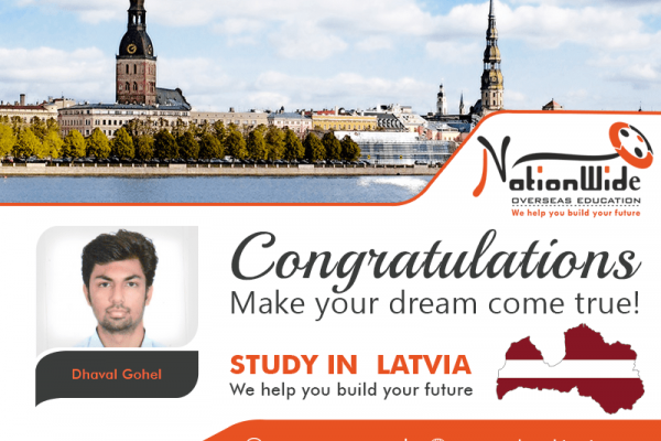Congratulations & Bon Voyage for Overseas Education in Latvia