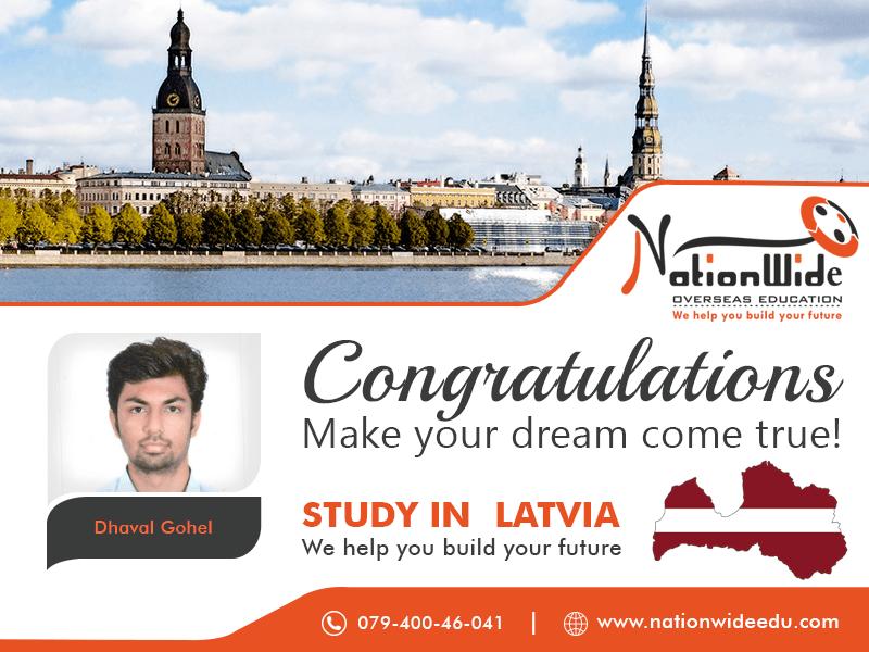 Congratulations & Bon Voyage for Overseas Education in Latvia
