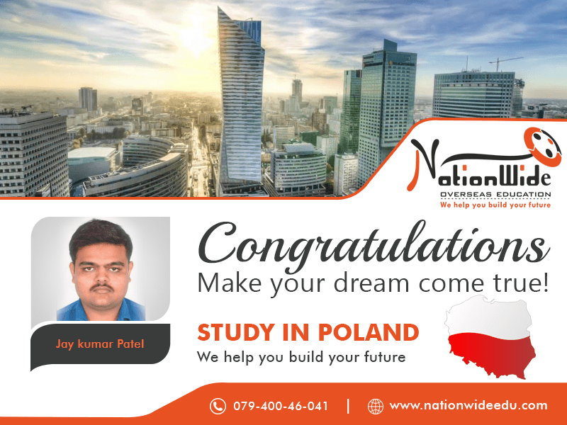 Congratulations for getting Student Visa for Overseas Study in Poland