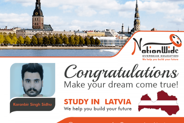 Congratulations for getting Student Visa for Overseas Study in Latvia