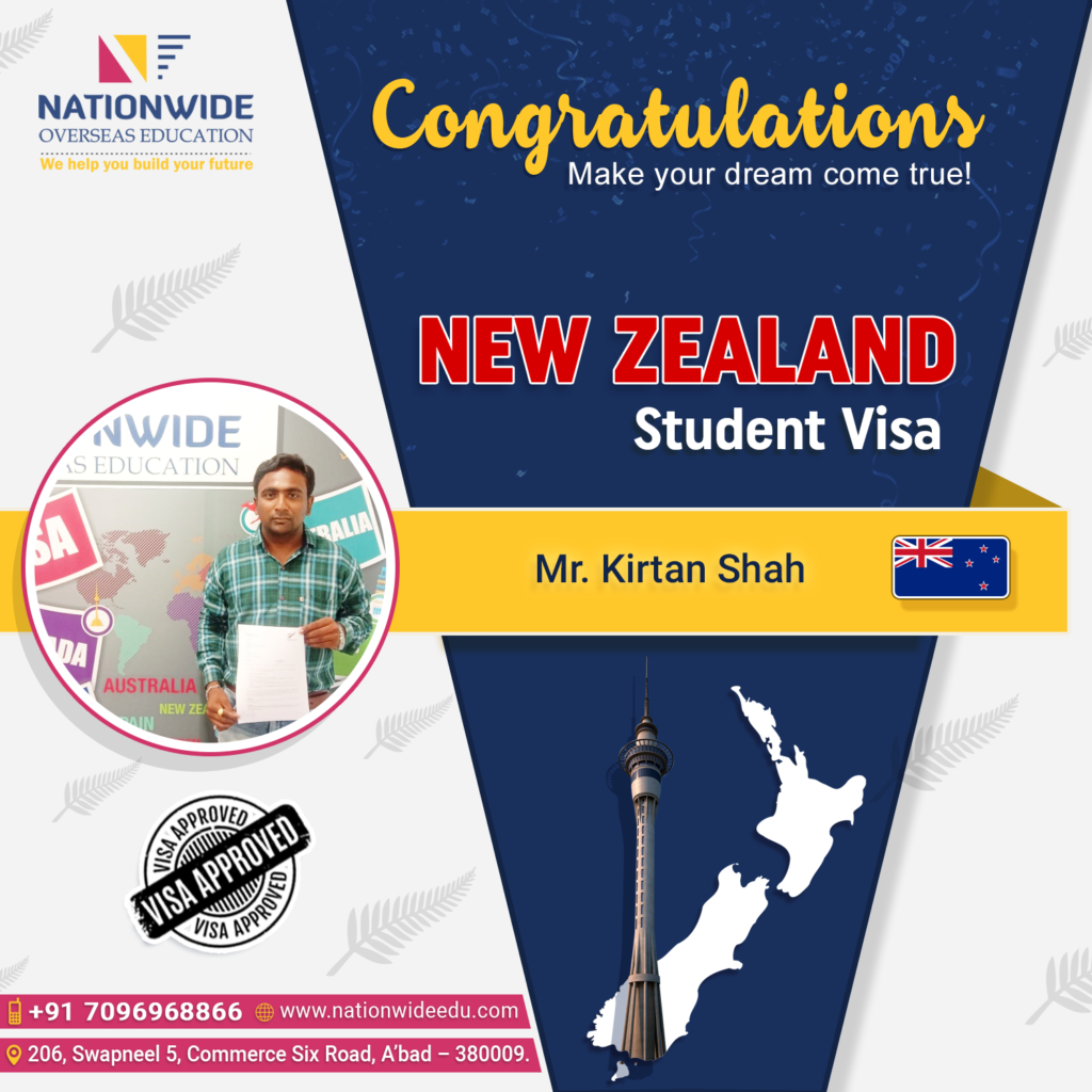 New Zealand student visa consultant in Ahmedabad