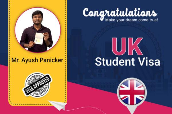 Congratulations to Ayush Panicker for getting UK Student Visa